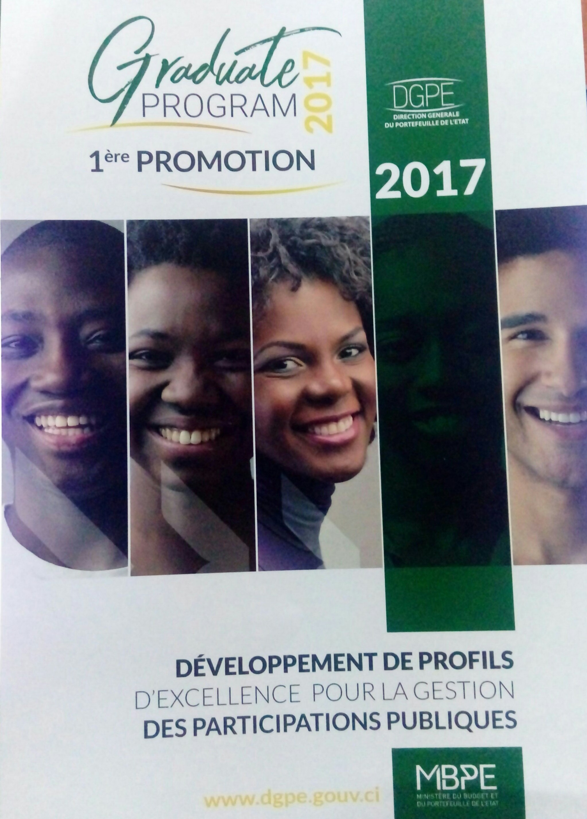 GRADUATE PROGRAM 1ère PROMOTION 2017